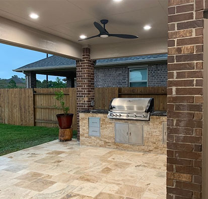 outdoor patios & kitchens services in Houston